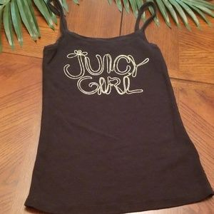 Juicy Girl Couture Tank Black Small Top Shirt Gold